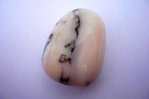 Tromlovaný – růžový andský opál, 31 mm, č.16