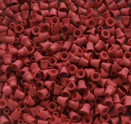 dřevěné korálky zvonečky 6x6
