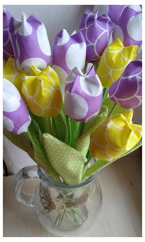 Tulipán výška 33cm látková květina