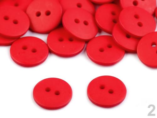 Knoflík 15,2mm (10ks) - červená