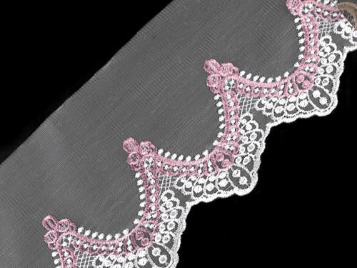 Vyšívaný prýmek na monofilu šíře 17,5 cm