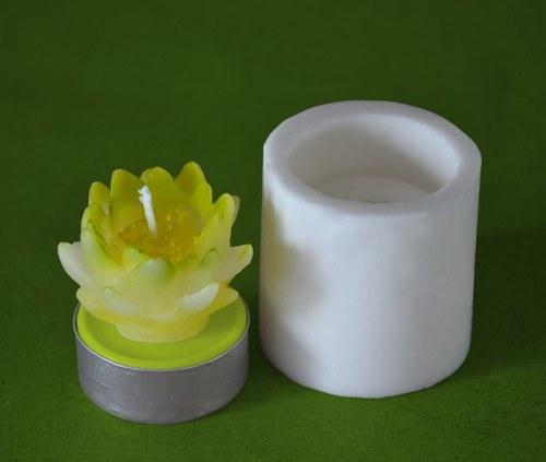 Silikonová forma na čaj. svíčku - Leknín žlutý