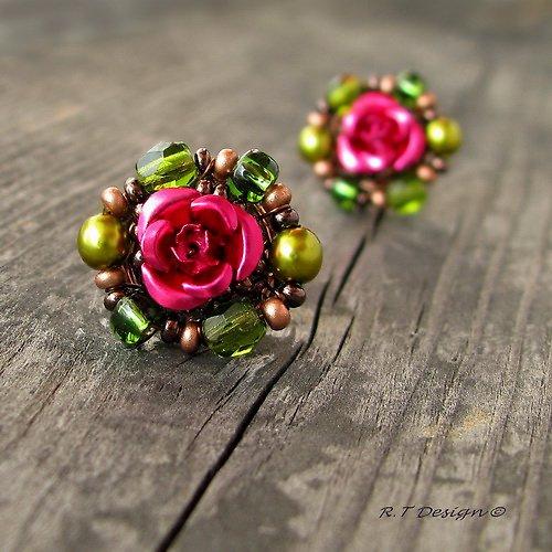 Náušničky Královna květin...