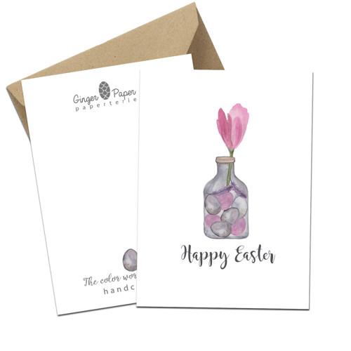 Přání HAPPY EASTER Tulip