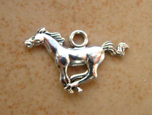 Přívěsek kůň 17x27 mm, 2 ks