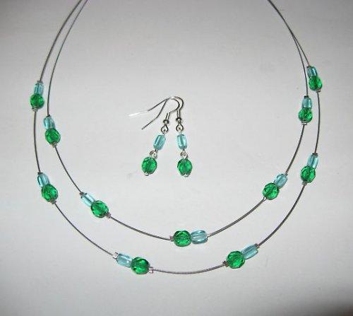 Souprava zeleno-tyrkysová
