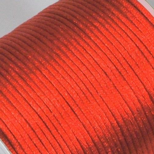 Saténová šňůrka 2 mm / červená