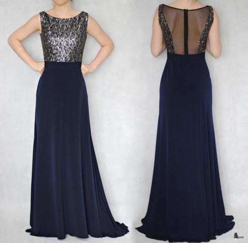 Spoločenské šaty s flitry a tylem rôzne barvy