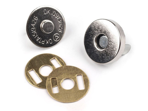 Magnetické zapínání Ø15mm (5sad) - nikl