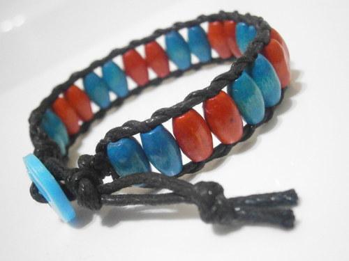 Modro-červený náramek (Wrap Bracelet)