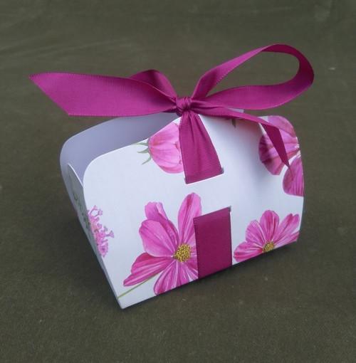 skládací krabičky LENKA - květy - balení 5 ks