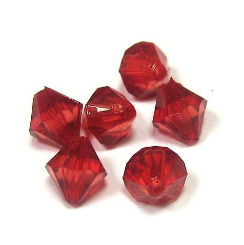 Akrylové korálky - 30 ks - červená