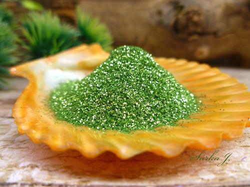 třpytivé glitry do mýdel a kosmetiky - zelené