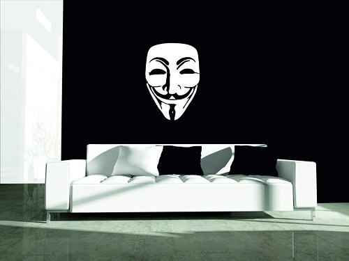 Samolepka na zeď - Anonymous