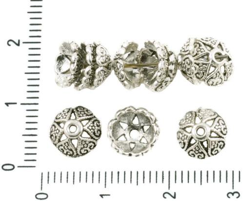 40pcs Antique Silver Velký Korálek Střapec Víčko K