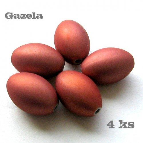 Olivy pogumované oranžové - 4 ks