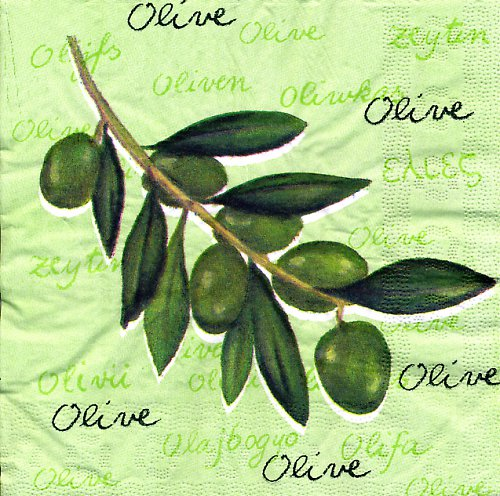Ubrousek s olivami