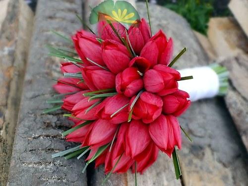 Svatební květina ***červené tulipány