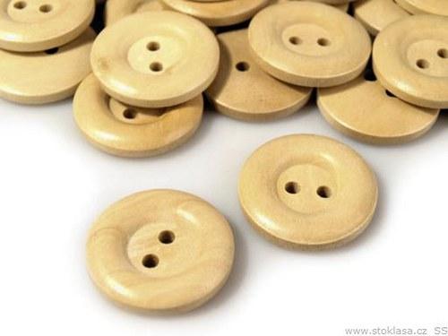 """Dřevěný knoflík vel.36\"""" béžový světlý"""