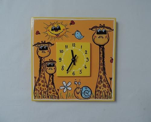 Hodiny nástěnné-žirafa II