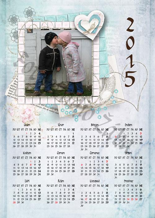 Kalendář ke Sv. Valentýnu modrý