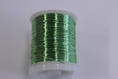 Měděný drátek 0,5mm - mátový, návin 19-21m