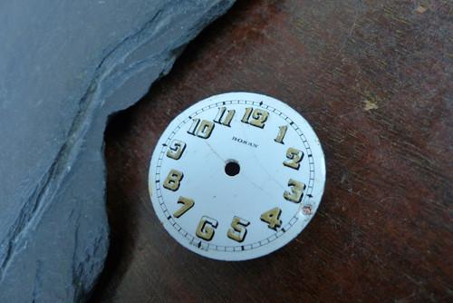Smaltovaný ciferník 21 -  materiál pro steampunk