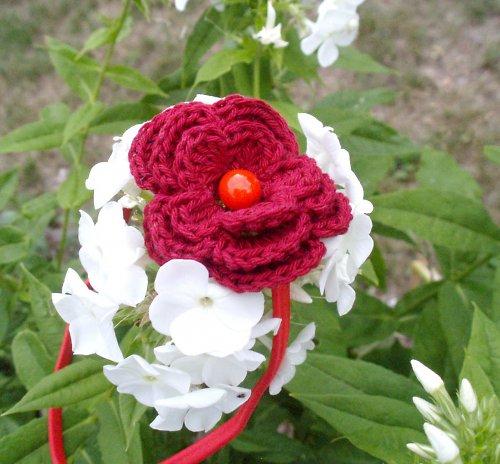Čelenka - Květinková čelenka