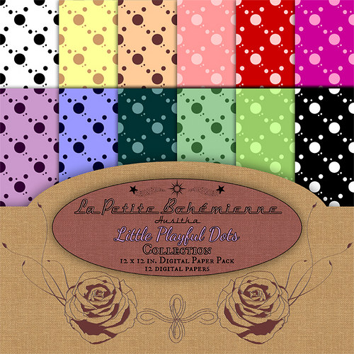 Scrapbook papíry Little Playful Dots - ScP0002