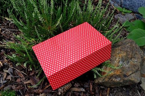 Krabička na čaj - 8 přihrádek - puntíky