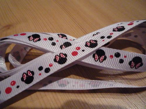 Rypsová stuha Minnie š. 9 mm bílá