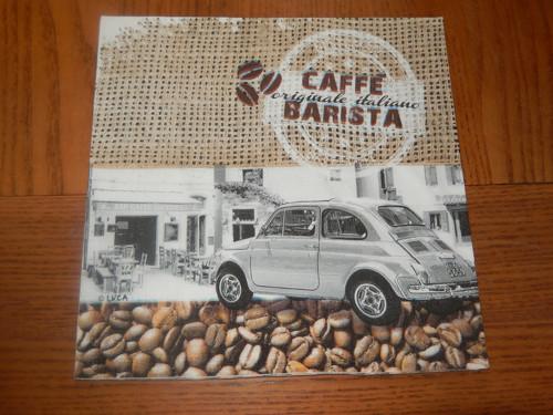Ubrousek na decoupage - café a auto