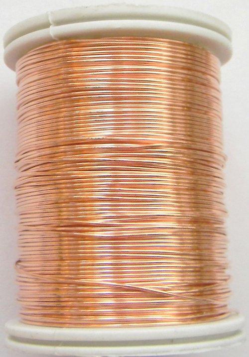 Měděný lakovaný drát 0,6 mm lososový