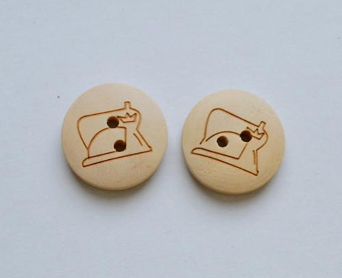 Dřevěný knoflík (cena za 2 kusy)