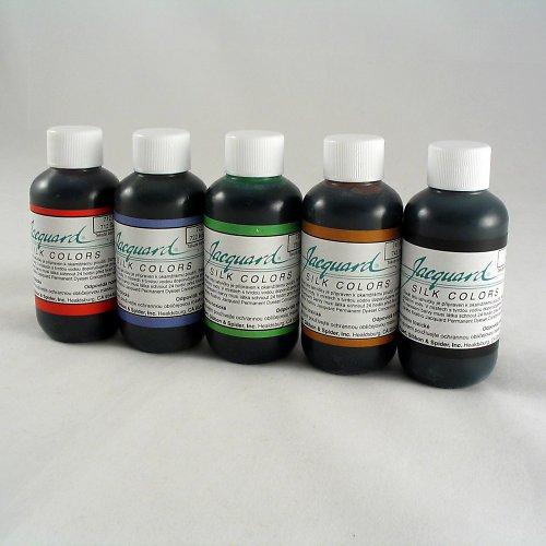 Napařovací barvy na hedvábí - 5 ks
