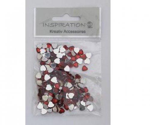 Srdce glitr 6mm-červené 10ks