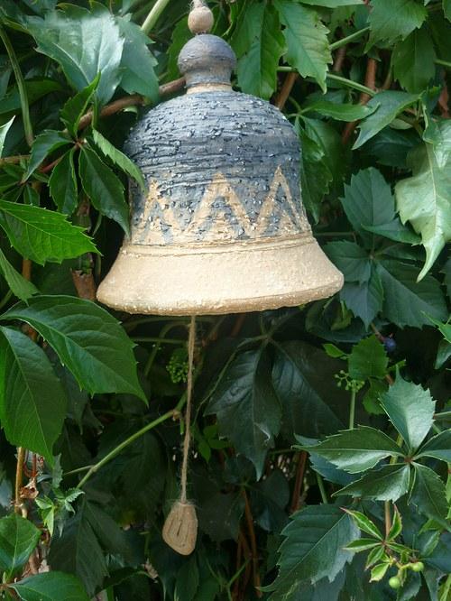 Keramický zvon modrý- kobalt