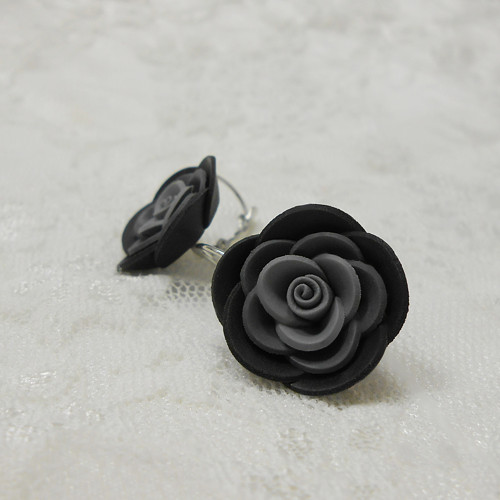 MAXI růžičky černé