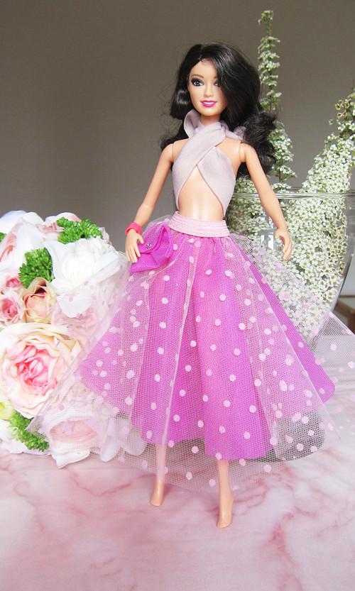 Barbie růžová sukně