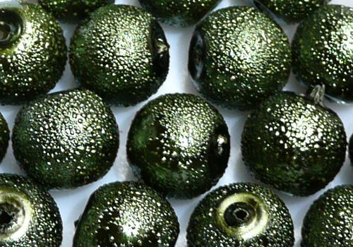 Vroubkované voskovky 8 mm - 10 ks - tm. zelená