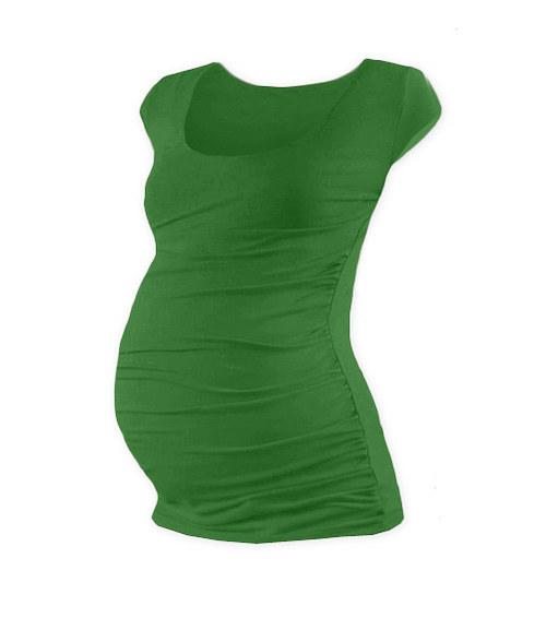 Těhotenské tričko mini rukáv tmavě zelené