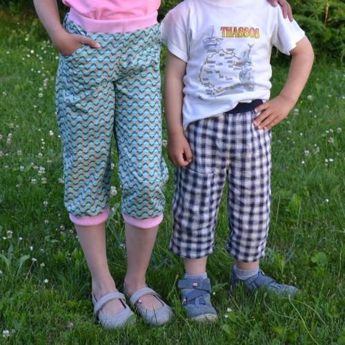 Střih a fotonávod na kalhoty tříčtvrťáky