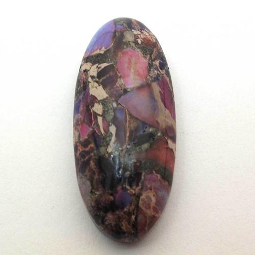 Kabošon fialový pyrit regalit ovál 35mm