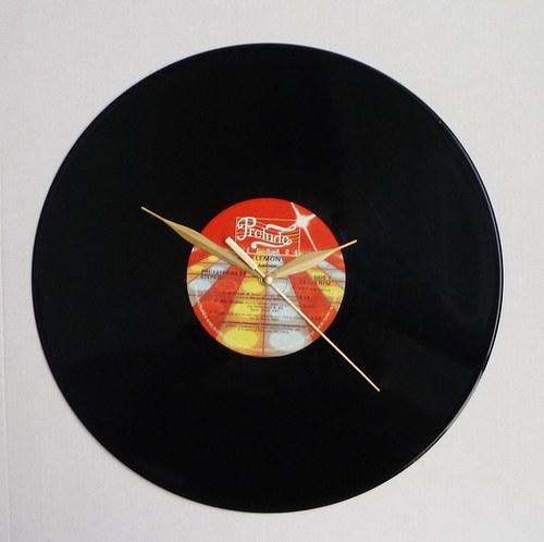 Vinylové hodiny Lemon