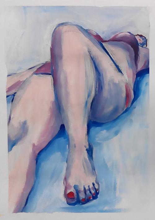 Ležící dívka 1