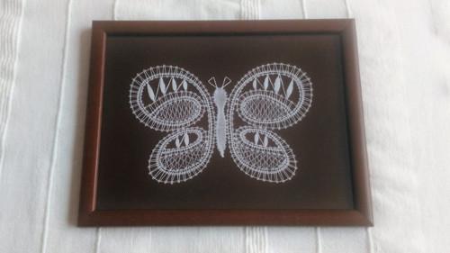 Paličkovaný obrázek - Motýl