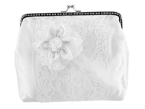 Dámská kabelka bílá, svatební kabelka KKP1
