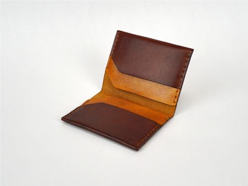 Malá kožená peněženka či pouzdro na karty