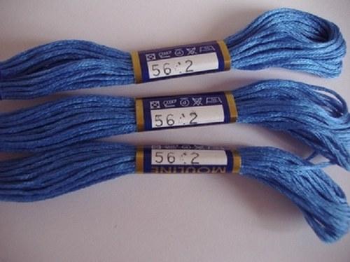 Vyšívací příze mouline - kalifornská modř