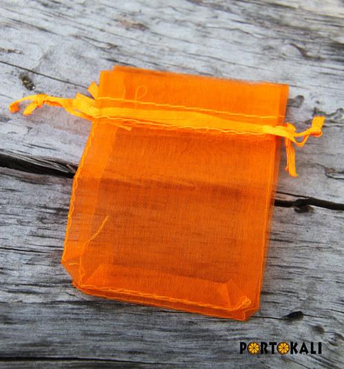 Organzový sáček oranžový